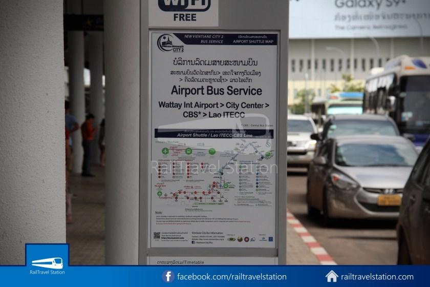 Vientiane City 2 Bus Service Airport Shuttle Airport Nam Phu 015