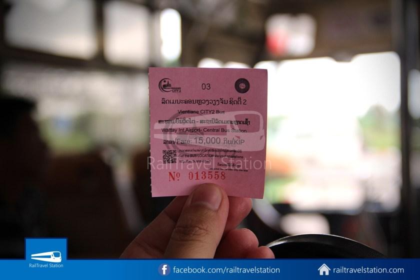 Vientiane City 2 Bus Service Airport Shuttle Airport Nam Phu 030