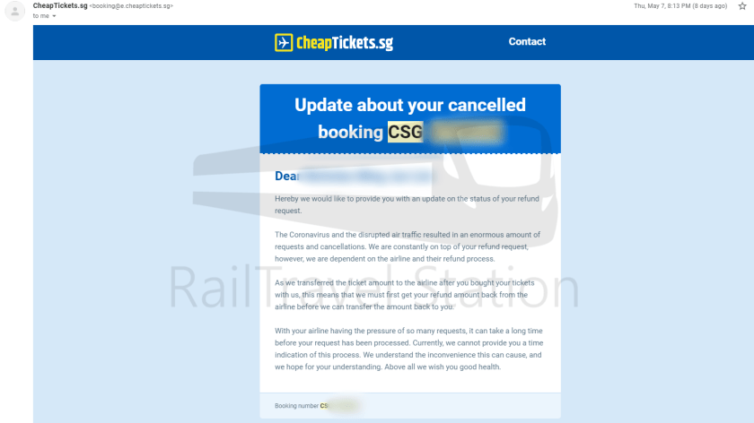 Cheaptickets Refund Process COVID-19 003