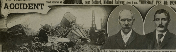 1909 railway accident postcard. Courtesy Mike Esbester.