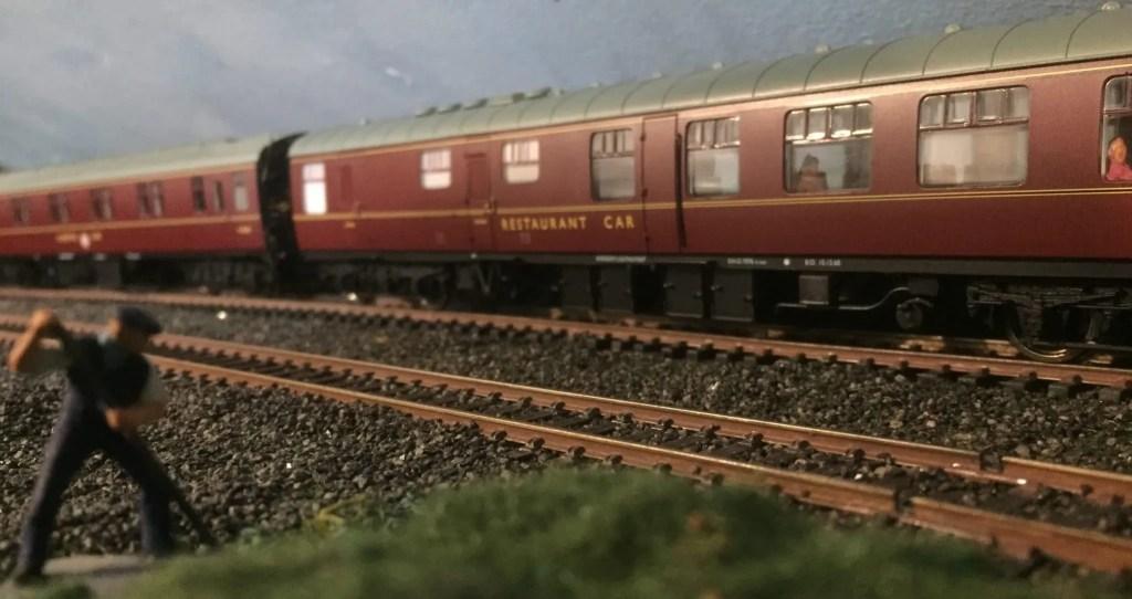 Realistic model railway weathering