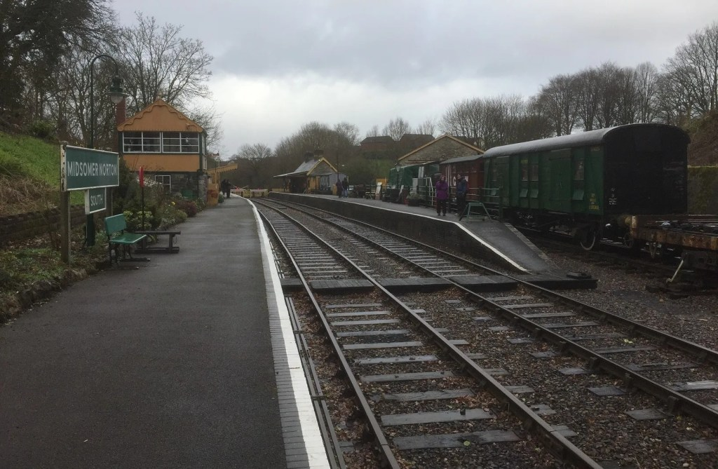 Midsomer Norton station March 2017 fifty one years after closure by British Rail