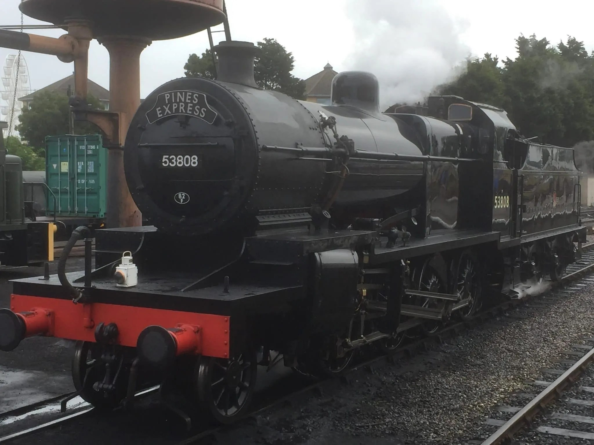 7f 53808 about to work the Pines Express on the West Somerset Railway