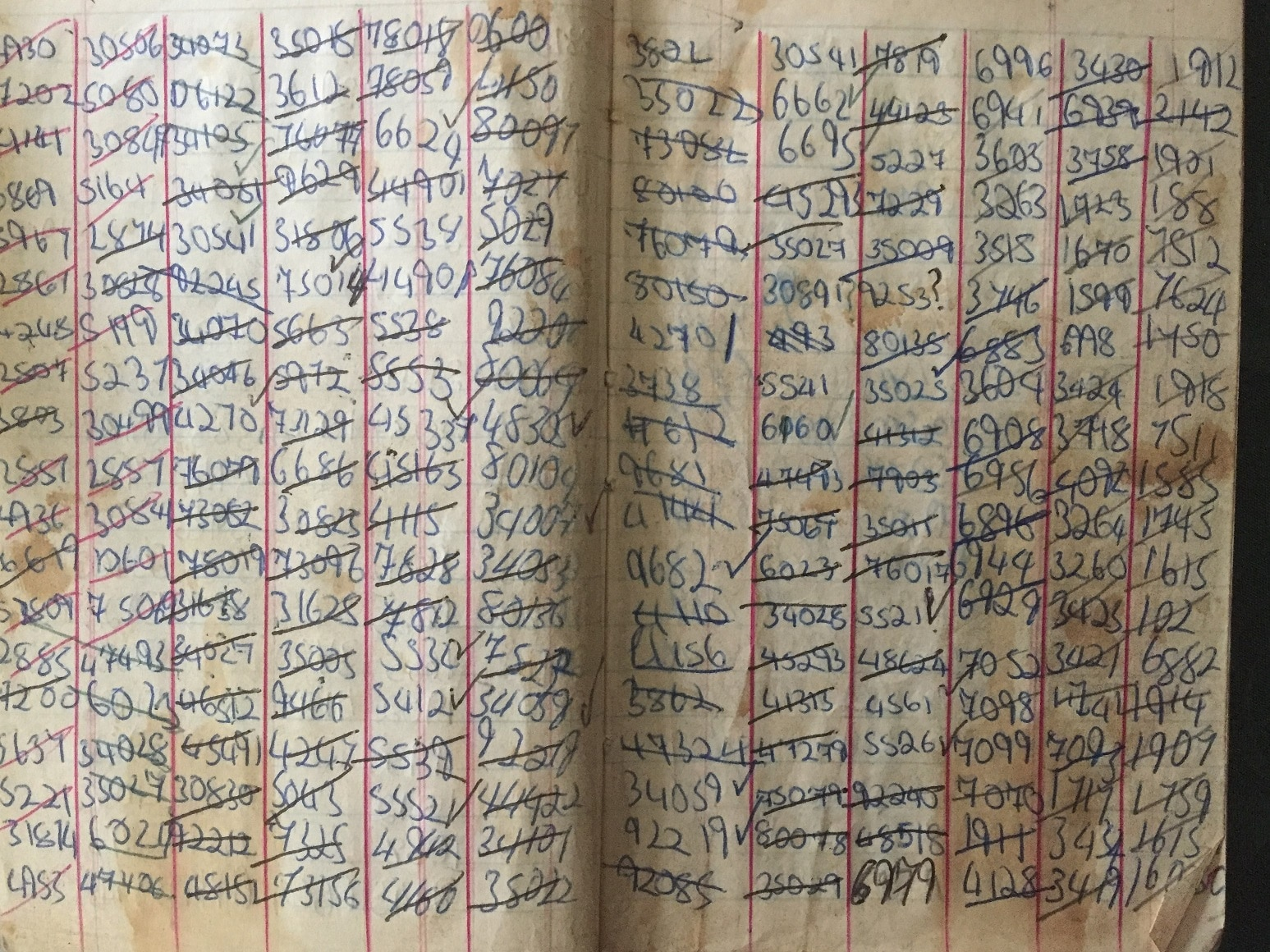1970s railway enthusiast trip notebook with list of Barry Scrapyard locos
