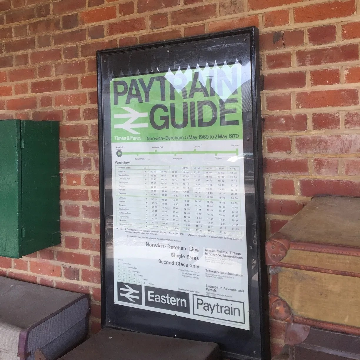 British Rail Pay train guide poster from 1970