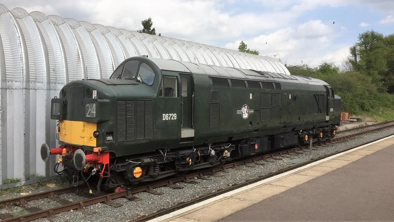 Class 37 D6729 awaits its next workshop at Ongar Station
