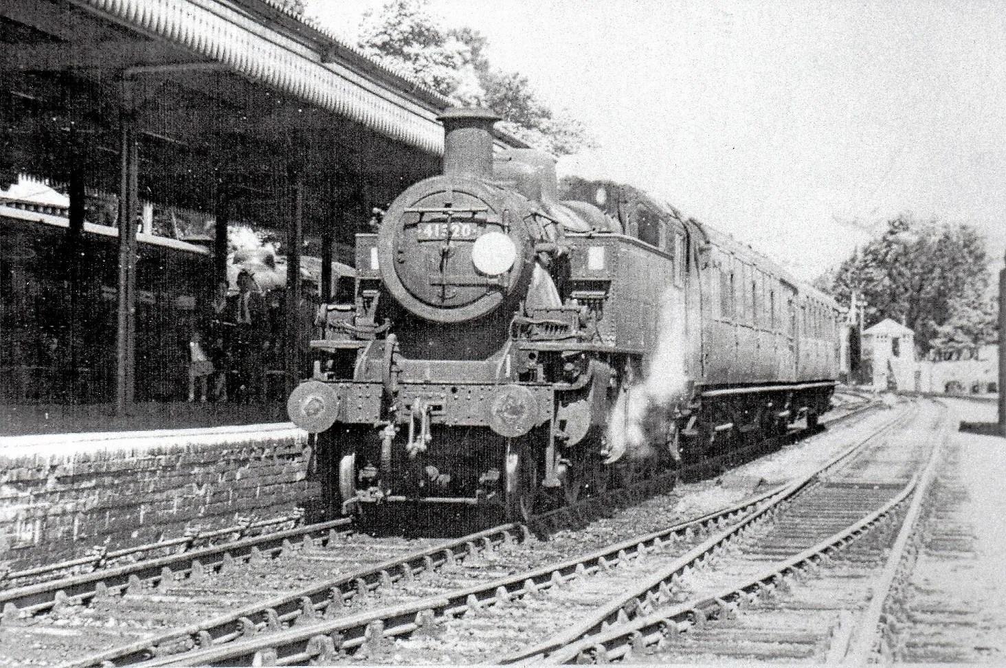 Ivatt Class 2 locomotive - 41320 - Sidmouth Railway Station
