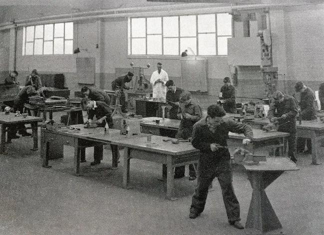 Sheet metal section Crewe Works Apprentice School