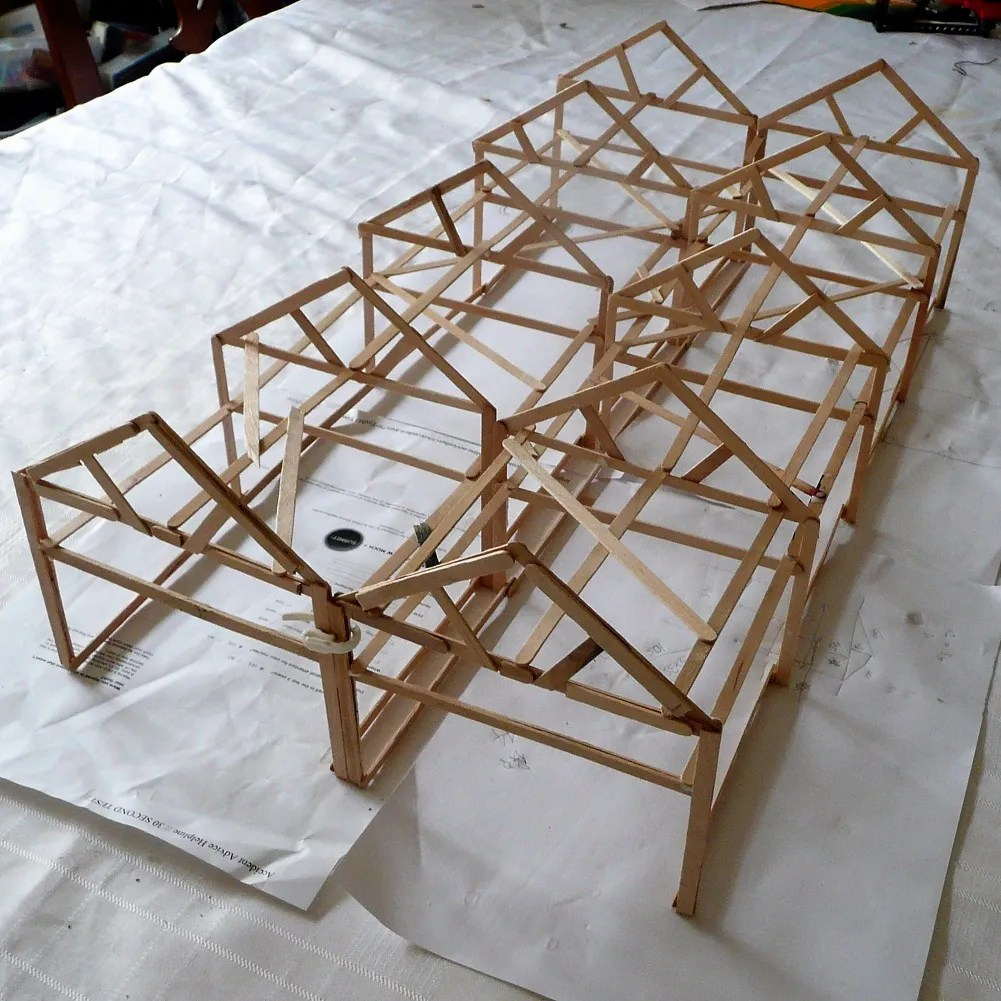 Structure of the Somerset and Dorset Loco model railway Shed - 00 guage