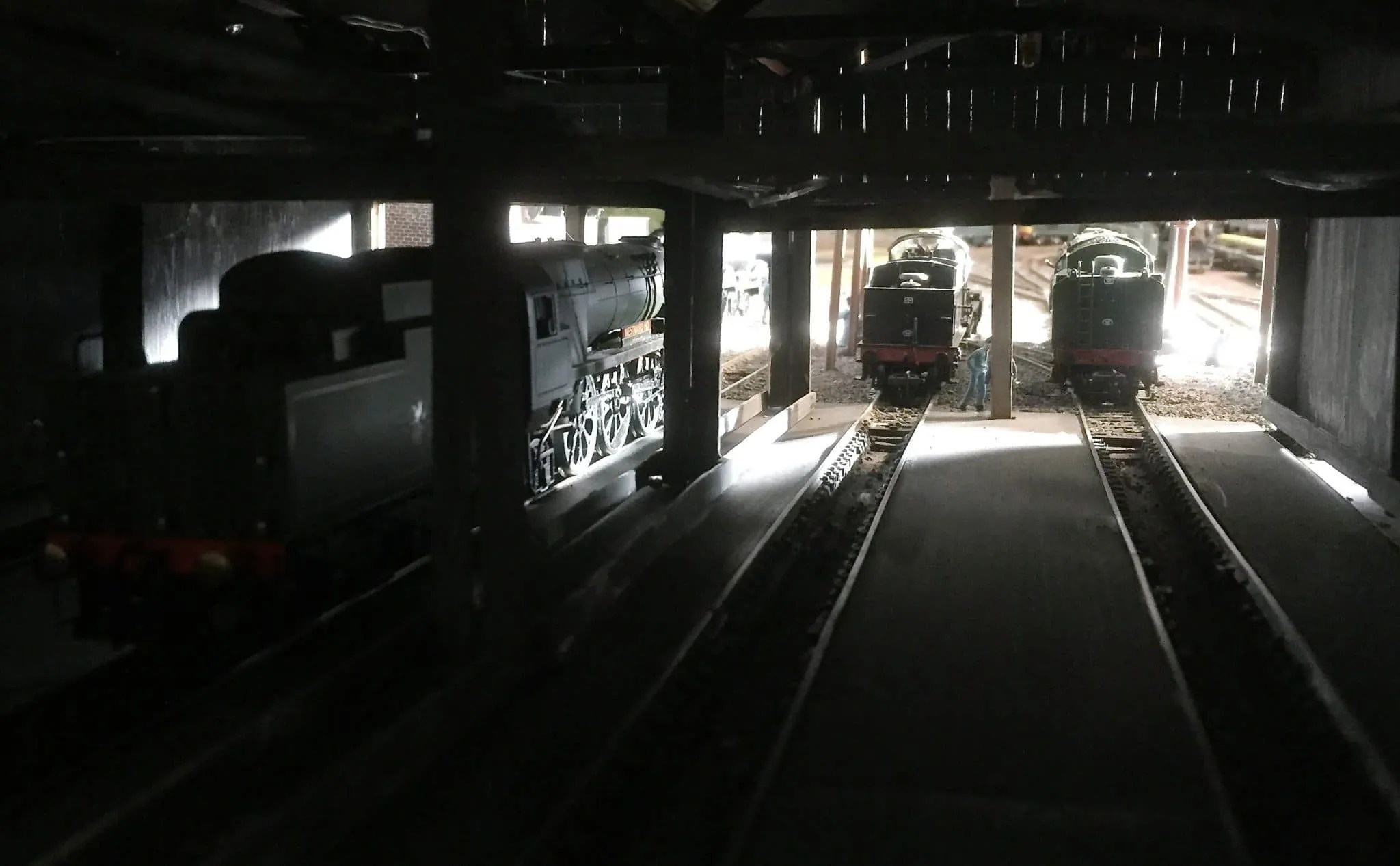 View from the model railway shed looking out - 00 gauge