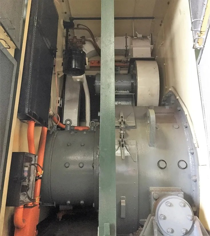 The electrical compartment on D3935 Class 08 Shunter