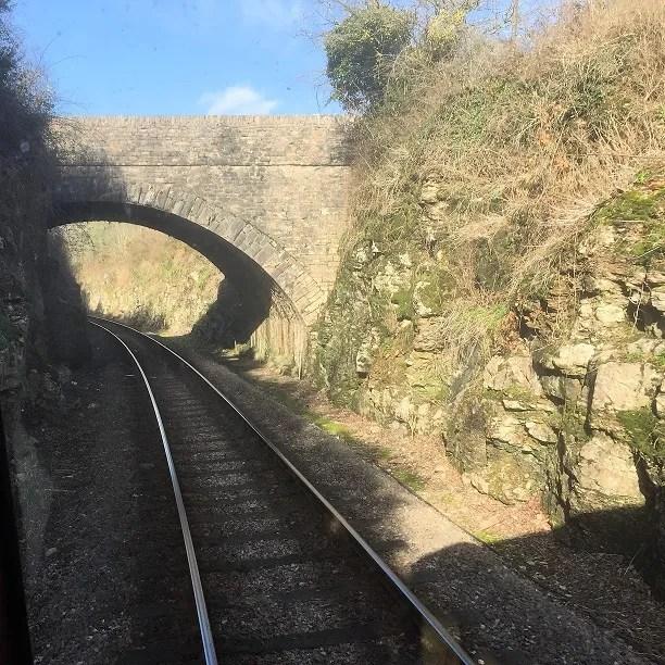Cutting on the Dartmouth Steam Railway