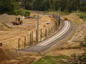 Baustelle Bahnstrecke