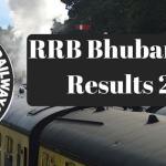 RRB Bhubaneswar Results 2017