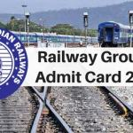 Railway Group D Admit Card 2018