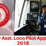 Railway Loco Pilot Application Form 2018