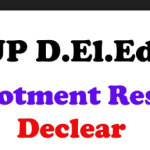 UP Deled Seat Allotment Result 2018