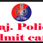 Rajasthan police admit card 2018