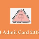 dsssb admit card 2018