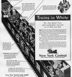 trains in white ad from new york central [ 1454 x 1880 Pixel ]