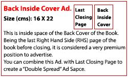Back Inside Cover  (Rs. 400,000)