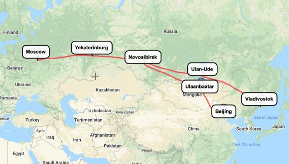 trans-siberian railway express map