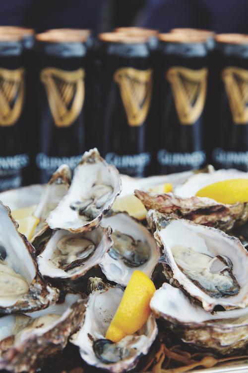 Belmond Grand Hibernian Irish oysters Guinness