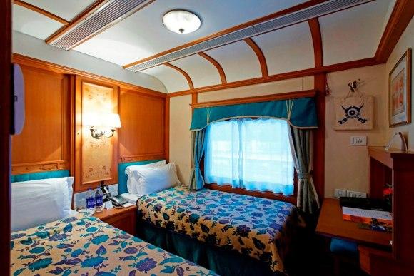 Deccan Odyssey India train deluxe twin cabin