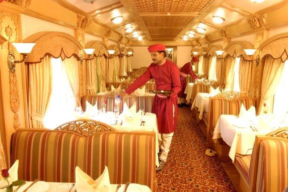 Deccan Odyssey India train restaurant