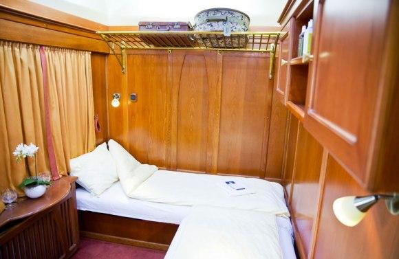 Golden eagle danube express train sleeper cabin