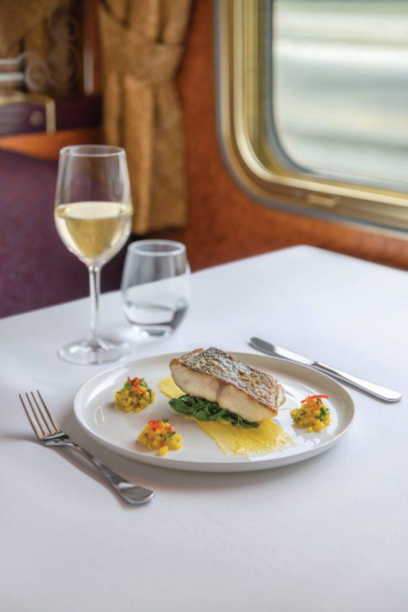 The Ghan train Australia food dining