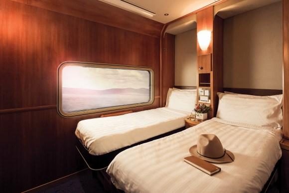 The Ghan train Australia platinum service night