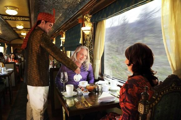 Maharajas Express train India lounge car