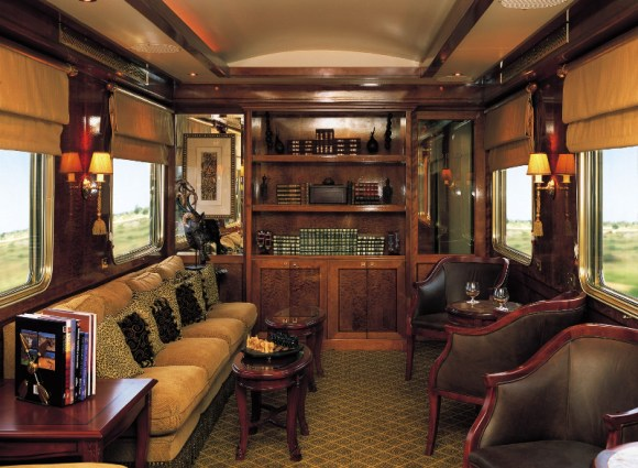 The Blue Train South Africa lounge bar