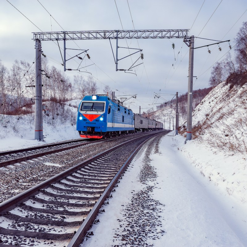 Trans-Siberian railway train