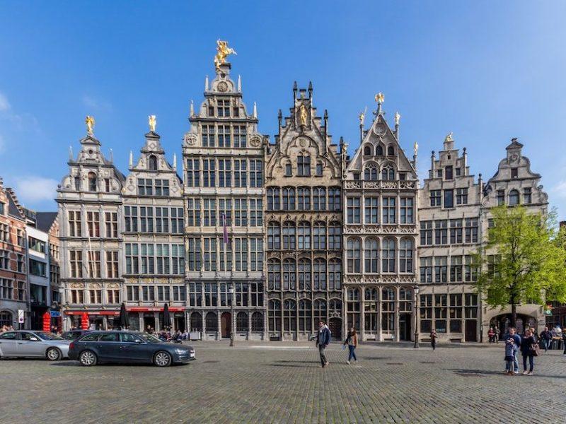 Antwerp on eurostar, Belgium