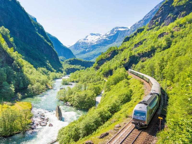 flam railway train Norway