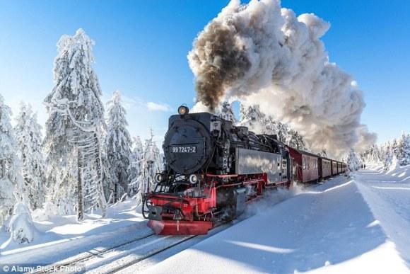 Harz railway snow