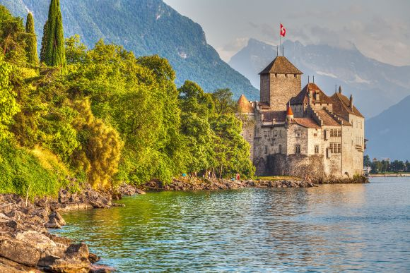 Chateau de Chillon lake Geneva