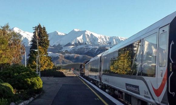 TranzAlpine railway train