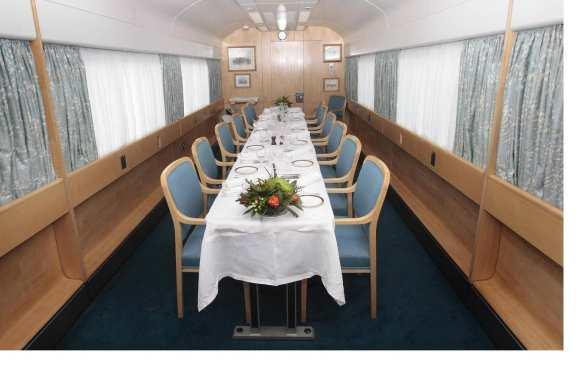 Royal train dining room