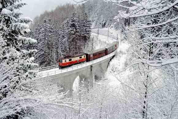 winter train journeys semmering line
