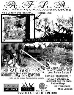 The Rail Yard Community ART Garden flyer
