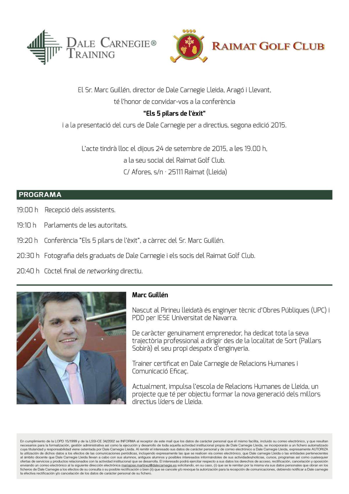 Invitacio_conferencia_Raimat_Golf_Club
