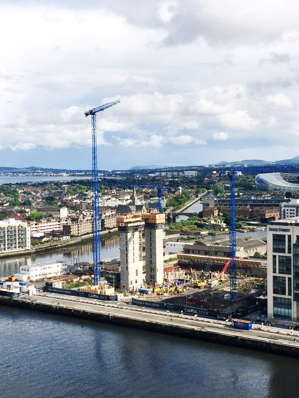 Irish Cranes currently has five cranes erected at the Capital Dock jobsite in Dublin, Ireland