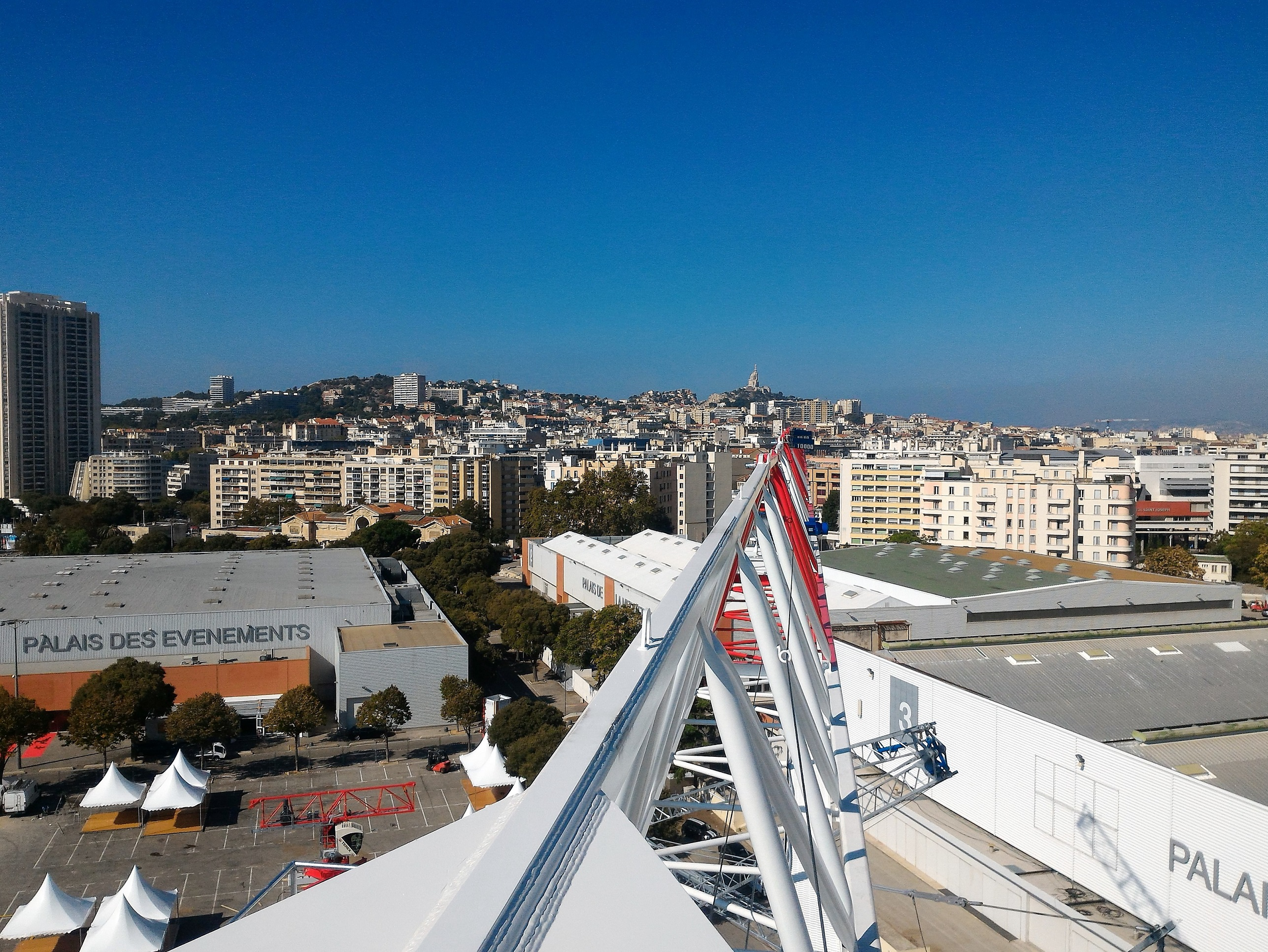 The view from the MRT223 jib at JDL MED 2016 in Marseille, France.