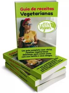 Guia de receitas vegetarianas -capas 3D