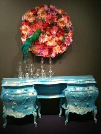 Kitschy art at the Seorae Art Center.