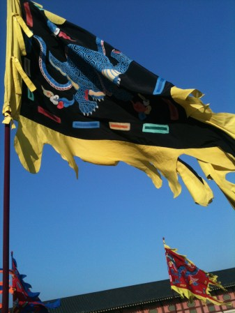 flags a-waving