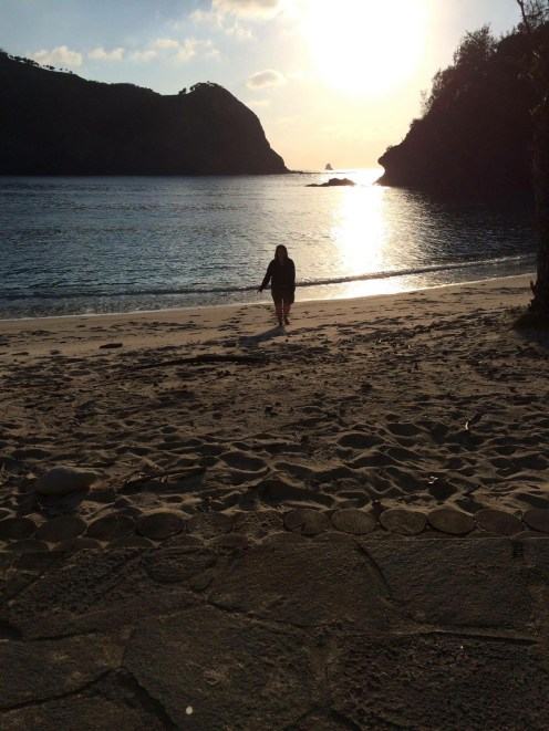 Sanae took this lovely picture of me at Kopepe beach after we meditated together.
